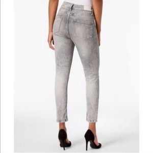 Calvin Klein High-Rise Acid Wash Skinny Jeans